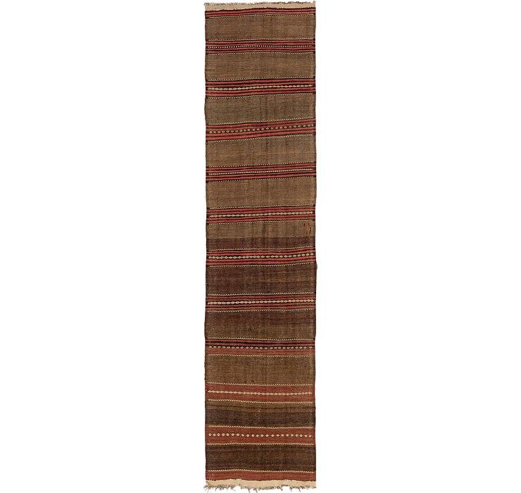 1' 6 x 10' 8 Kilim Fars Runner Rug