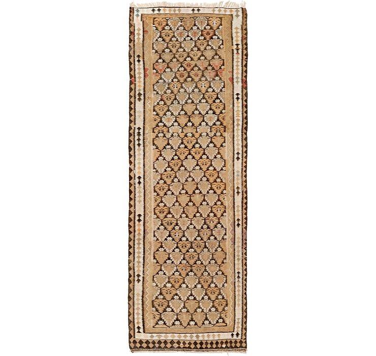 3' 8 x 10' 9 Kilim Fars Runner Rug