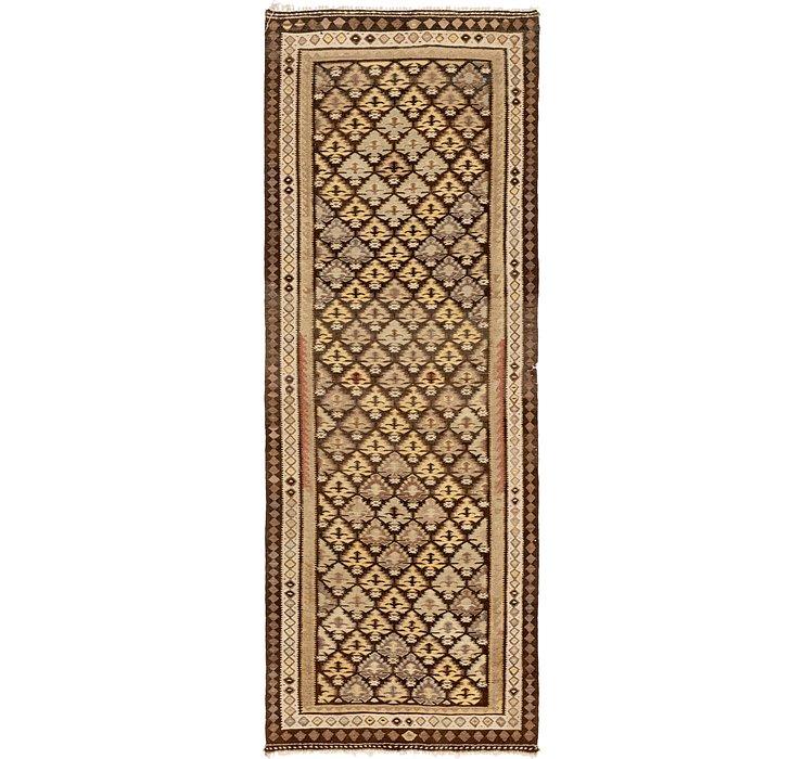 3' 9 x 10' Kilim Fars Runner Rug