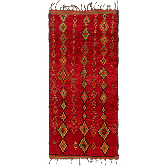 4' 9 x 10' 7 Moroccan Runner Rug