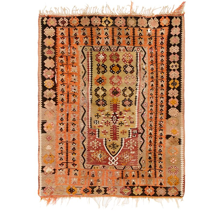4' 7 x 5' 7 Kilim Fars Persian Rug