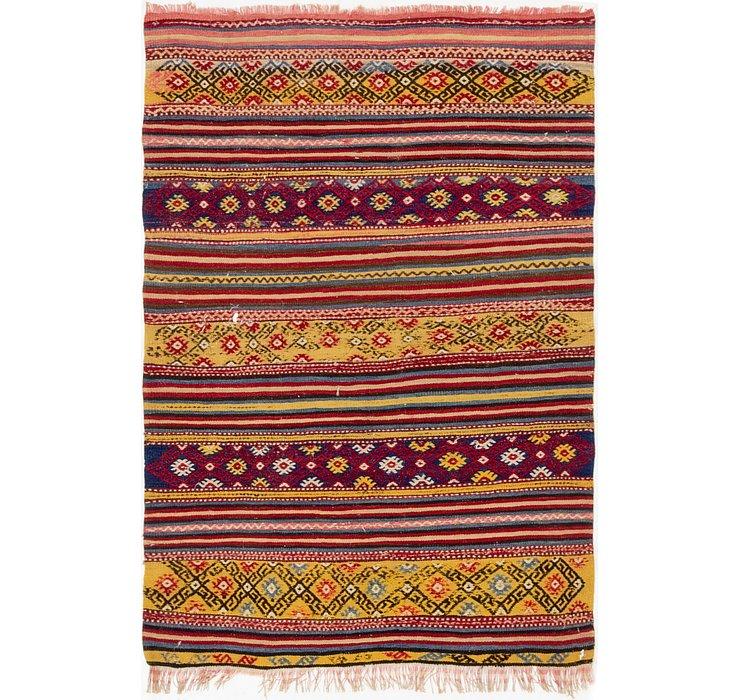 3' 4 x 4' 8 Moroccan Oriental Rug