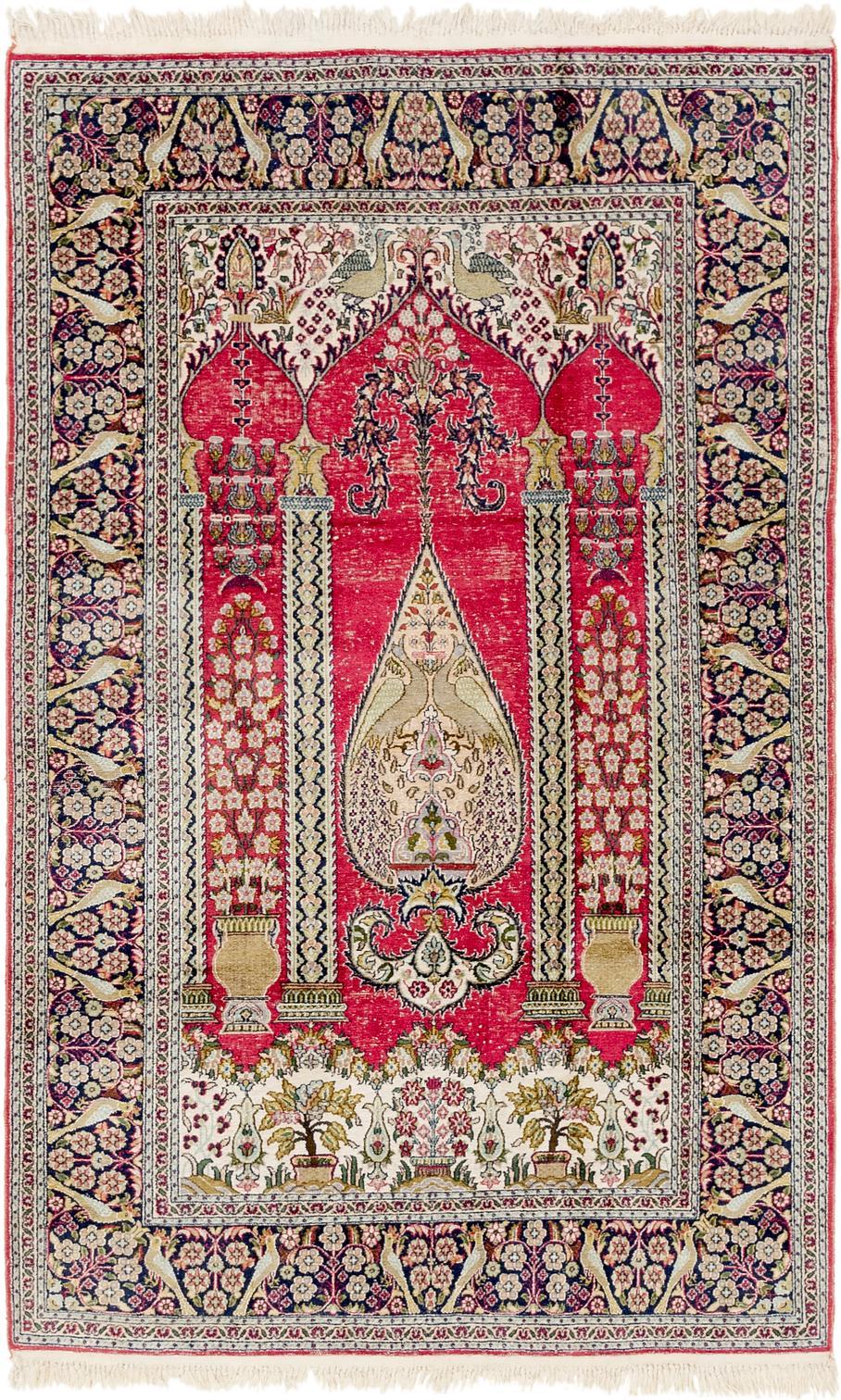 Main Handknotted 4 X 6 2 Kashmir Oriental Rug Photo