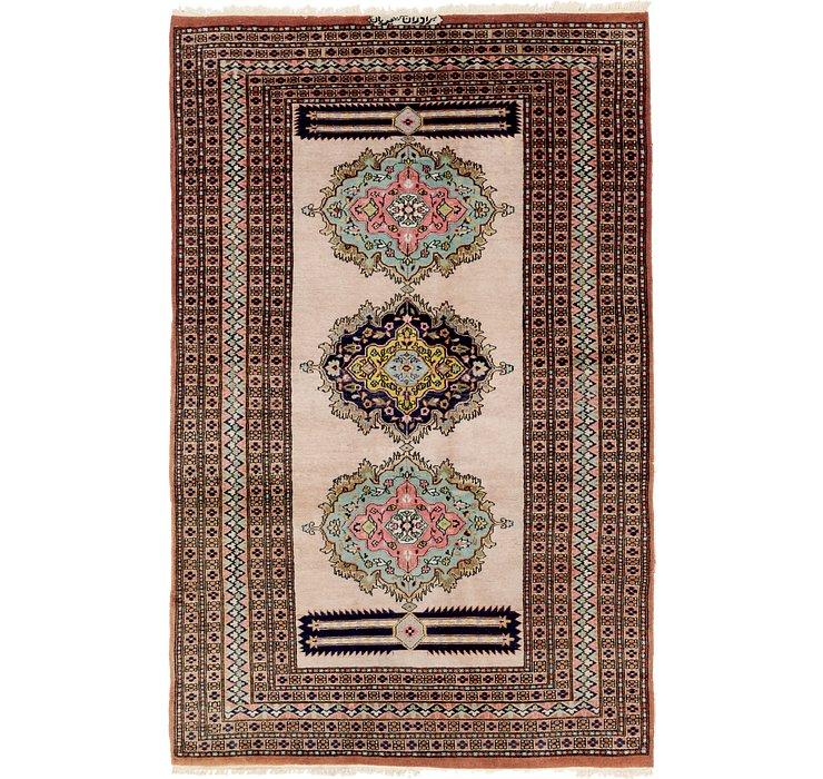 4' 4 x 6' 9 Bokhara Oriental Rug