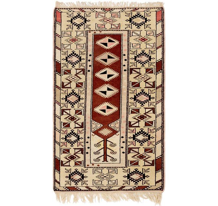 3' x 5' 4 Anatolian Oriental Rug