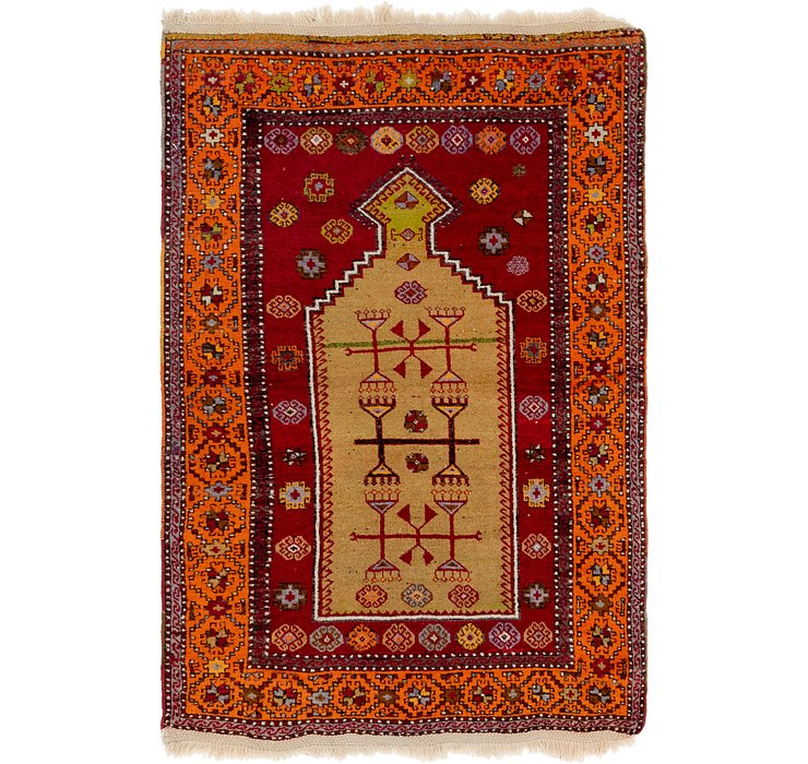 4' x 6' Anatolian Oriental Rug