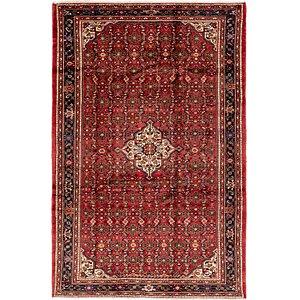 6' 7 x 10' Hossainabad Persian Rug