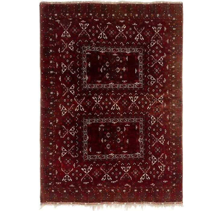 6' x 8' 5 Afghan Akhche Oriental ...