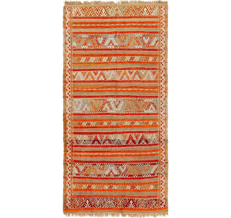 HandKnotted 4' 4 x 9' Moroccan Runner Rug