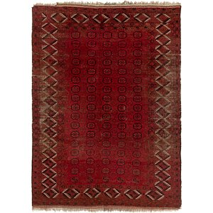 HandKnotted 7' 7 x 10' 4 Afghan Akhche Rug