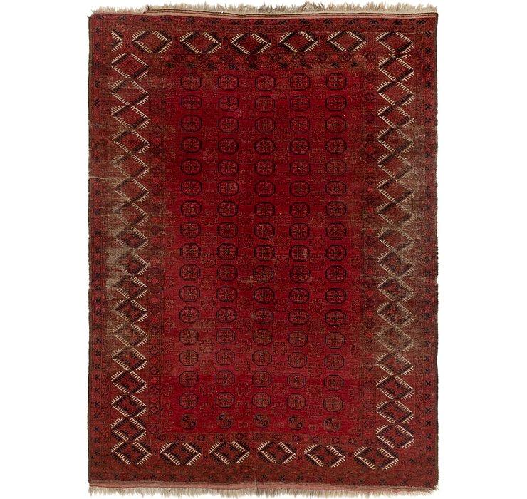 7' 7 x 10' 4 Afghan Akhche Rug
