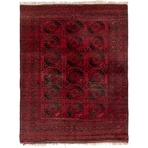 HandKnotted 8' x 10' 8 Afghan Akhche Rug
