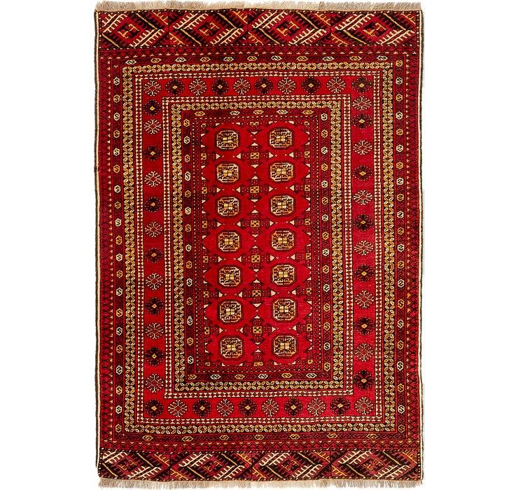 4' 2 x 6' 2 Afghan Akhche Rug