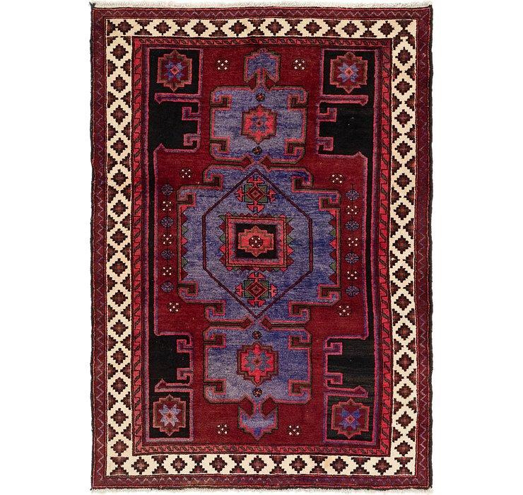 4' 10 x 7' Hamedan Persian Rug