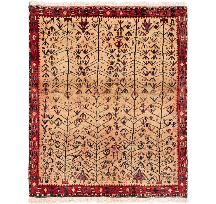 4' 3 x 5' Shiraz Persian Rug