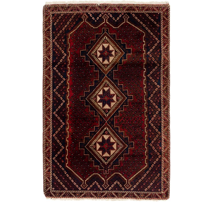4' x 6' 3 Ghashghaei Persian Rug