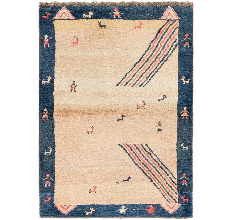 4' x 5' 7 Shiraz-Gabbeh Persian Rug