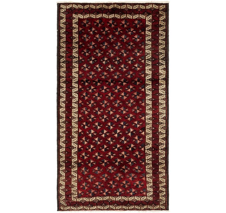 3' 9 x 7' 2 Balouch Persian Runner ...