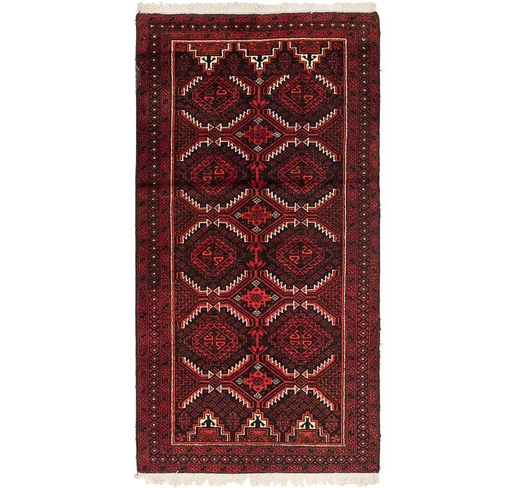 3' 9 x 7' 3 Balouch Persian Rug