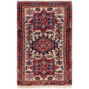 2' x 3' 2 Gharajeh Persian Rug