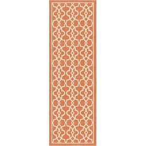 Unique Loom 2' 8 x 8' 2 Outdoor Trellis Runner ...