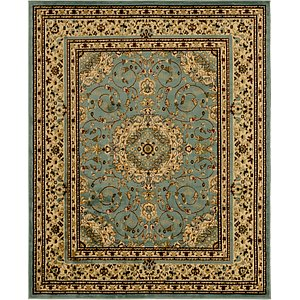 Unique Loom 7' 10 x 9' 10 Isfahan Design Rug