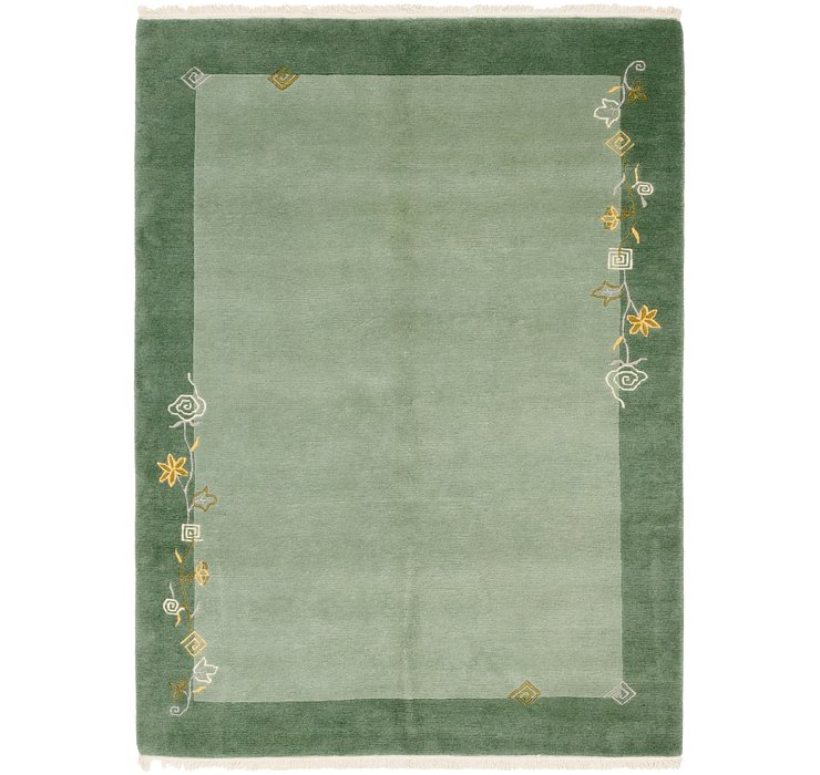5x8 Green Nepal / Tibet Rugs