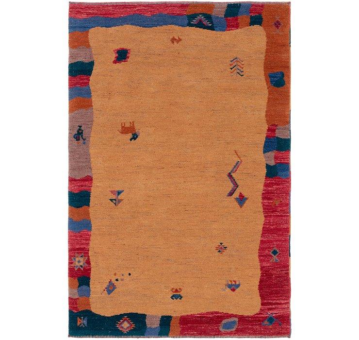 6' 4 x 9' 9 Shiraz-Gabbeh Rug