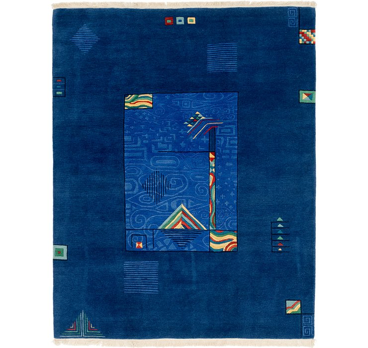 HandKnotted 6' 8 x 8' 5 Nepal Rug
