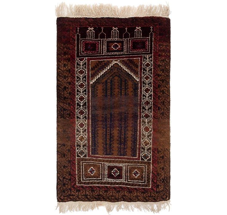 2' 9 x 4' 3 Balouch Persian Rug