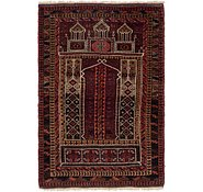 Link to 3' 4 x 4' 10 Balouch Persian Rug
