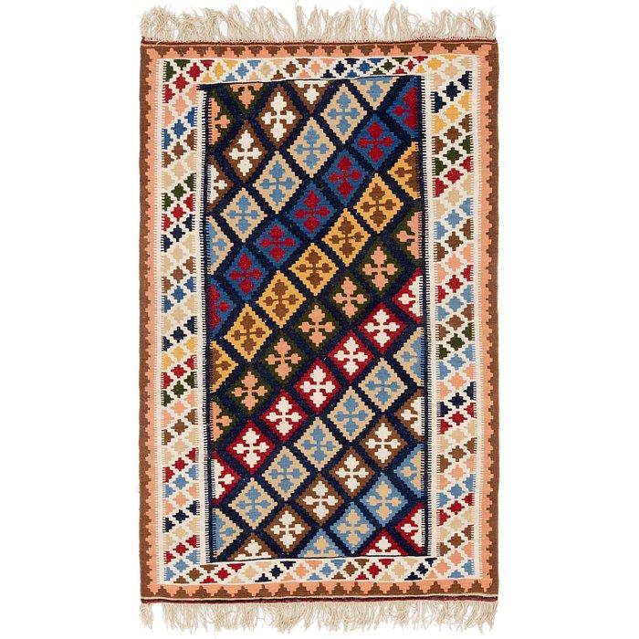 4' 2 x 6' 7 Kilim Fars Persian Rug