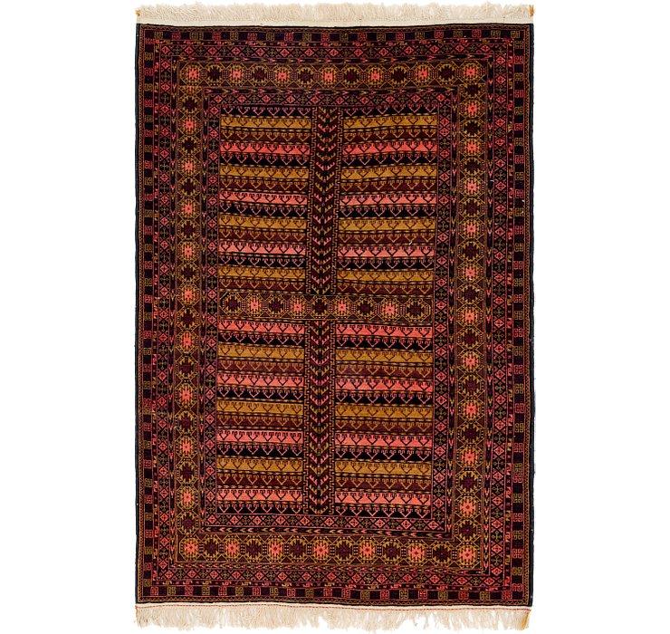 4' x 6' 5 Balouch Persian Rug