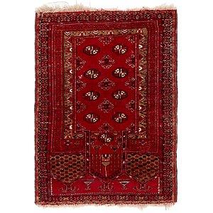 2' 6 x 3' 8 Afghan Akhche Oriental ...