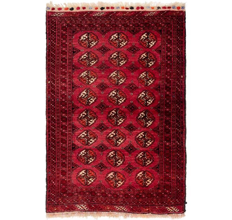 3' 9 x 5' 8 Torkaman Persian Rug