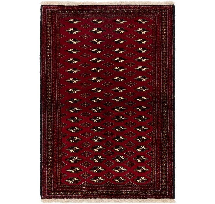 3' 10 x 5' 10 Torkaman Persian Rug