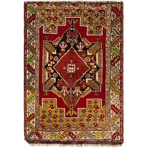 HandKnotted 3' 8 x 5' 4 Anatolian Oriental Rug