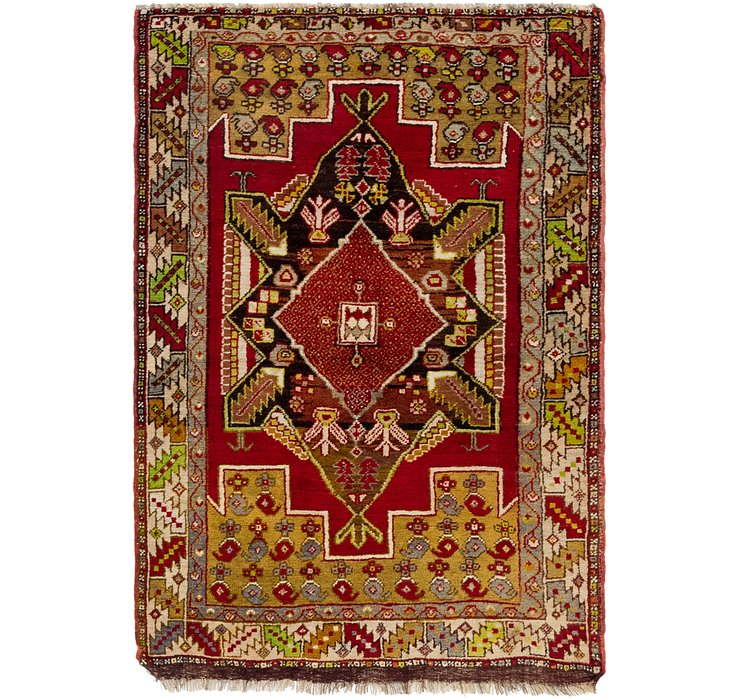 HandKnotted 3' 8 x 5' 4 Anatolian Oriental Rug