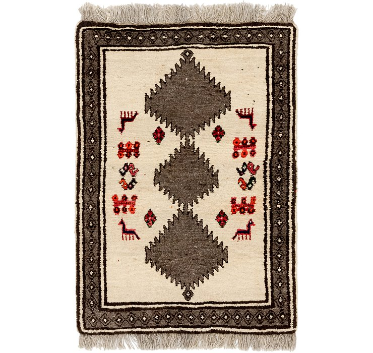 3' 5 x 5' 2 Shiraz-Gabbeh Persian Rug
