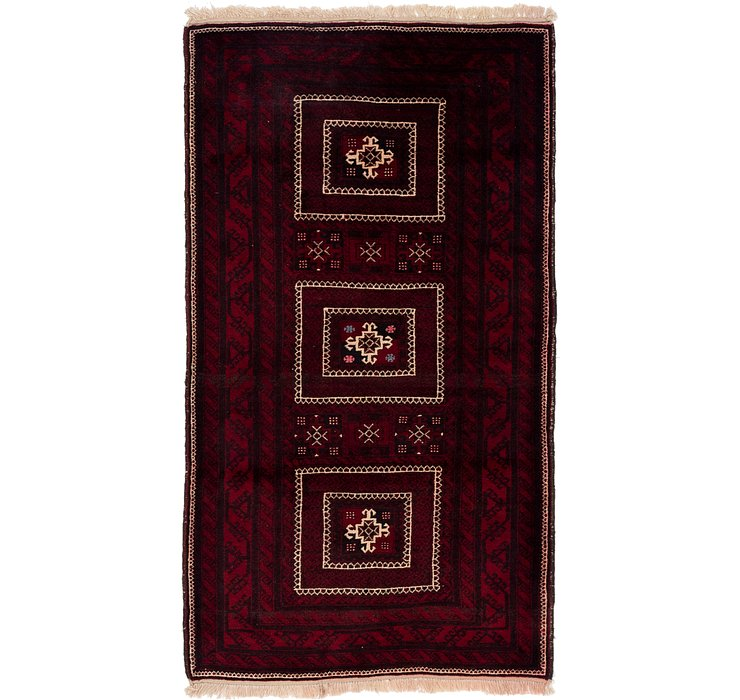 3' 5 x 6' 5 Balouch Persian Rug