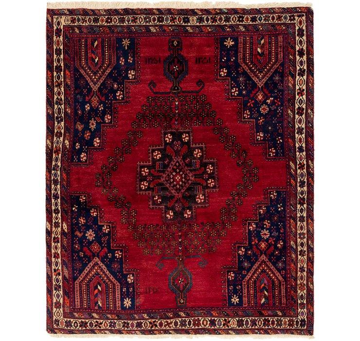 5' 3 x 6' 10 Ghashghaei Persian Rug