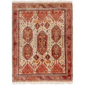4' 7 x 6' Meshkin Persian Rug