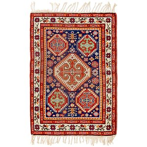 HandKnotted 3' x 4' 6 Romani Rug