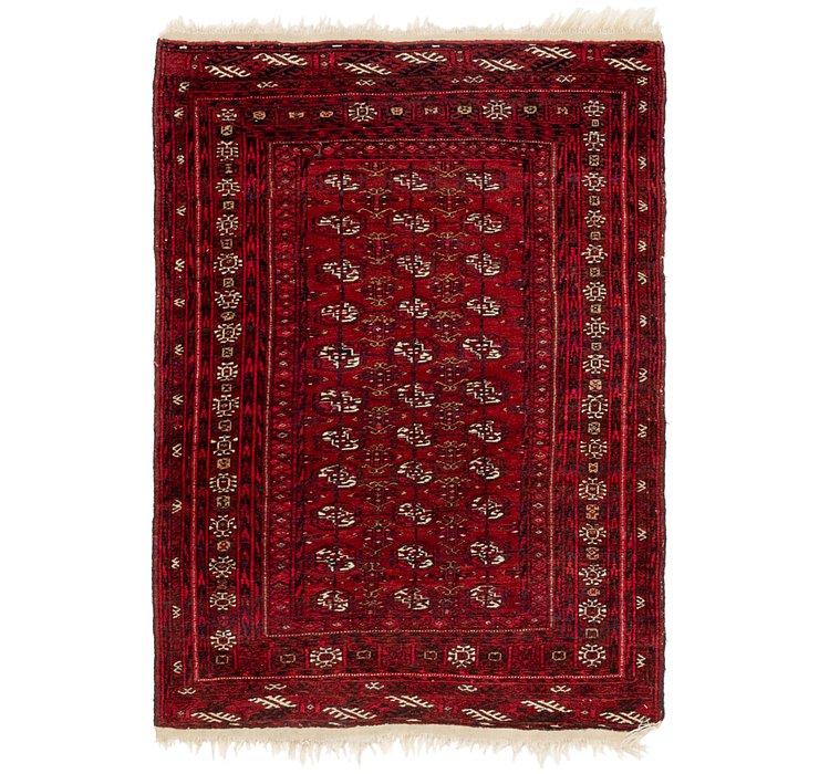 3' 5 x 4' 8 Afghan Akhche Persian Rug