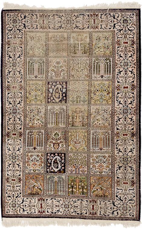 Beige 3 X 5 Kashmir Oriental Rug Oriental Rugs Esalerugs