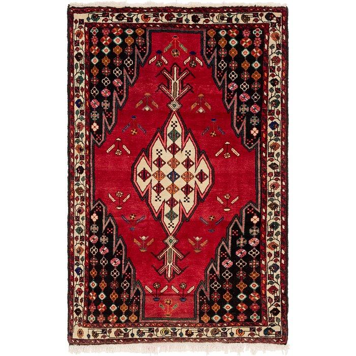 4' 6 x 6' 9 Mazlaghan Persian Rug