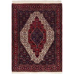 3' 9 x 5' 4 Senneh Persian Rug