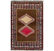 Link to 3' 5 x 5' Shiraz-Gabbeh Persian Rug