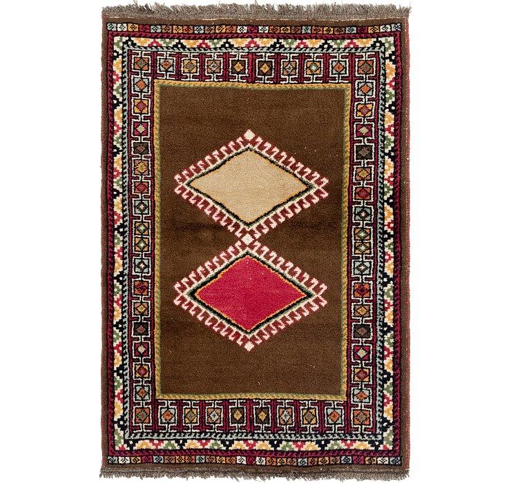 3' 5 x 5' Shiraz-Gabbeh Persian Rug