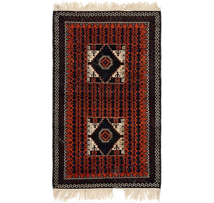 3' 8 x 6' 7 Shiraz Persian Rug